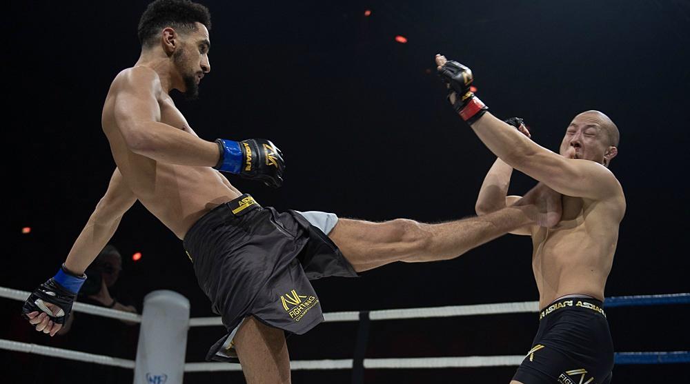Hamza Bougamza Binh Son Le MMA Ak Fighting Championship Frontkick Online