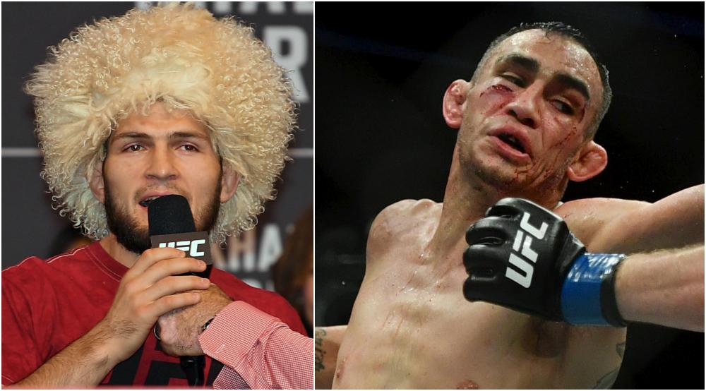 Khabib Nurmagomedov Tony Ferguson UFC MMA Frontkick Online