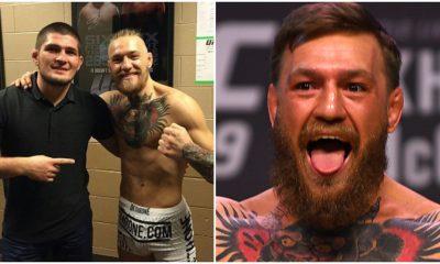 COnor McGregor Khabib Nurmagomedov UFC MMA Frontkick Online