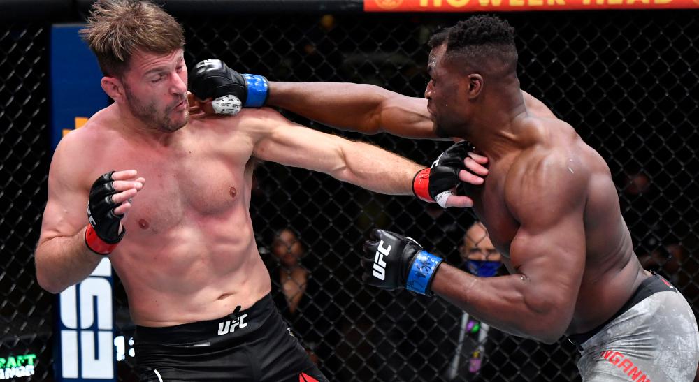 Francis Ngannou Stipe Miocic UFC MMA Frontkick Online UFC 260 knockout 2