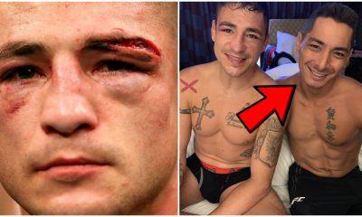 Diego Sanchez Joshua Fabia lämnar pil UFC MMA Frontkick Online