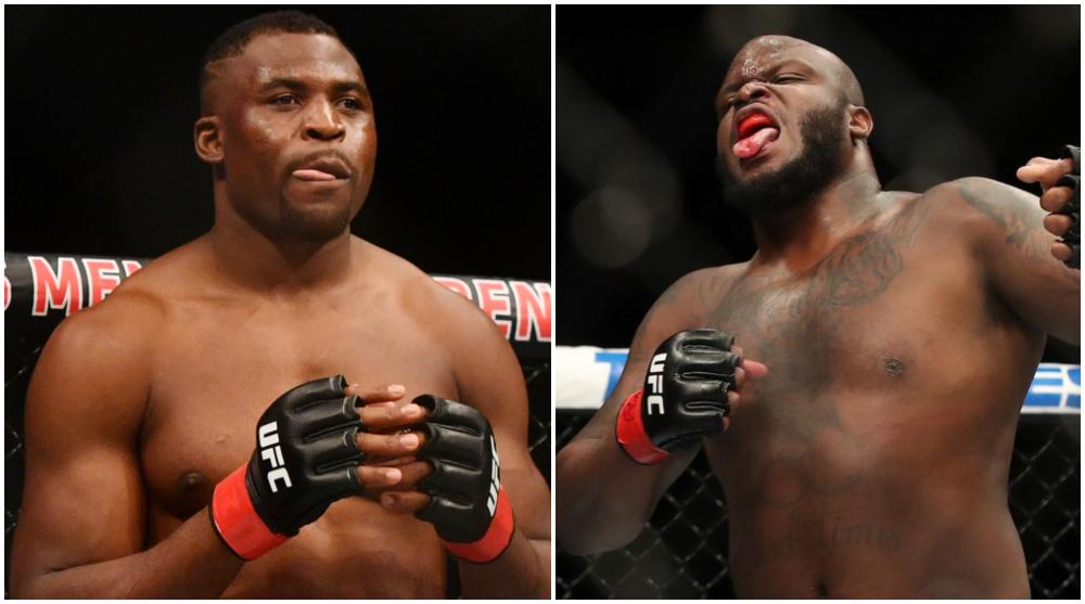Francis Ngannou Derrick Lewis The Black Beast UFC MMA Frontkick Online