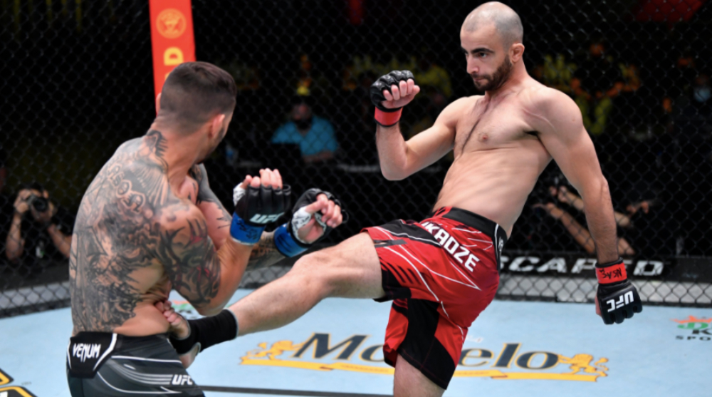 Giga Chikadze Cub Swanson UFC MMA Frontkick Online