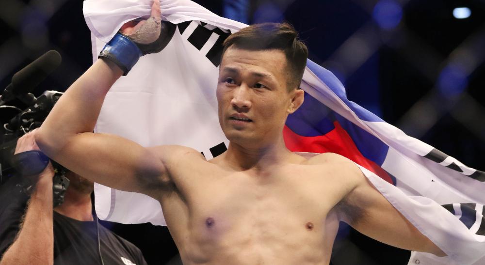 Chan Sung Jung Korean Zombie UFC Frontkick.online