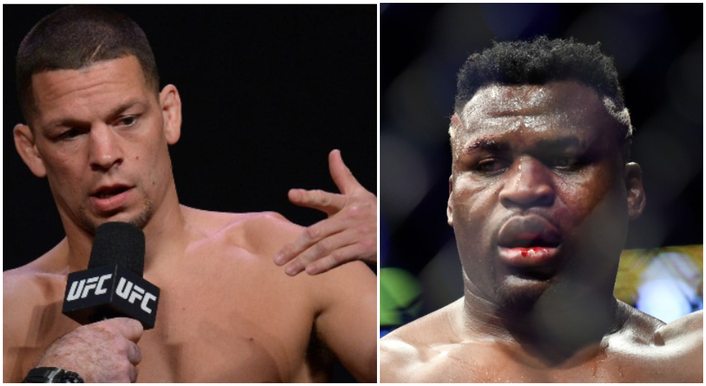 Nate Diaz Francis Ngannou MMA Frontkick.online