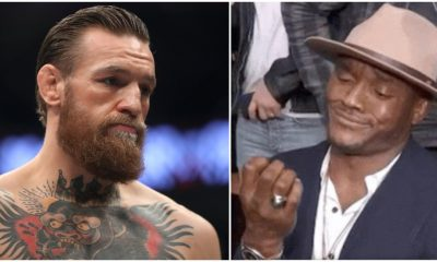 Kamaru Usman Conor McGregor UFC MMA Frontkick Online