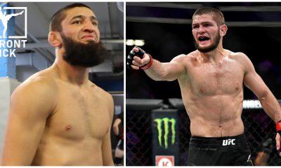 Khamzat Chimaev Khabib Nurmagomedov Beef UFC MMA Frontkick.online