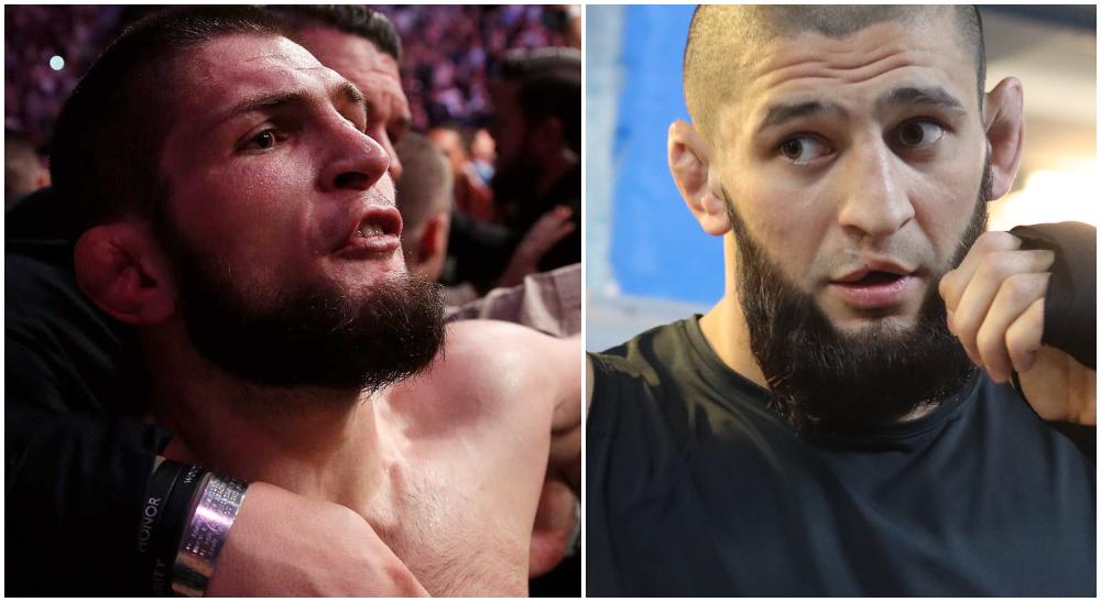 Khamzat Chimaev Khabib talar ut UFC MMA Frontkick Online