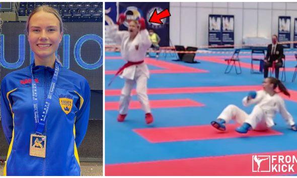 Matilda Rosenlind Karate-EM Frontkick.online
