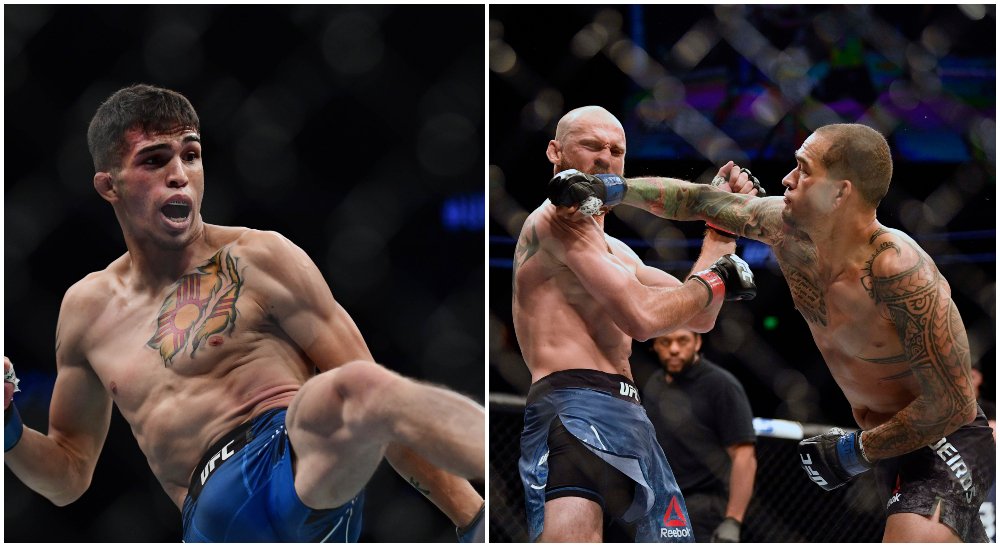 UFC fajters sparken Yancy Medeiros Jerome Rivera