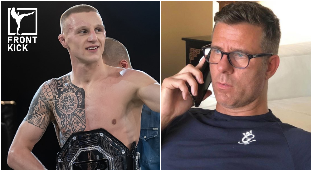 Tobias Harila Henri Hooft Svensk MMA Cage Warriors Frontkick Online no arrow