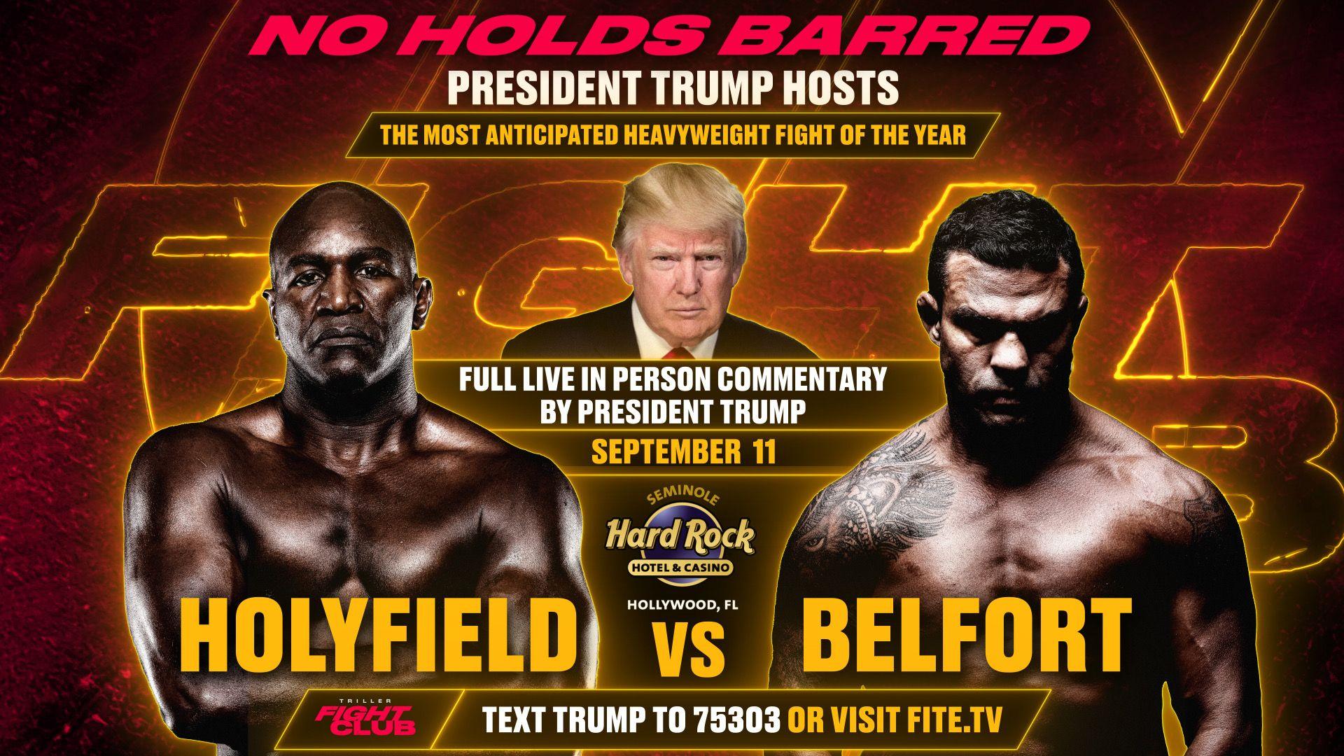 Donald Trump Triller Fight Club Evander Holyfield Vitor Belfort Frontkick.online