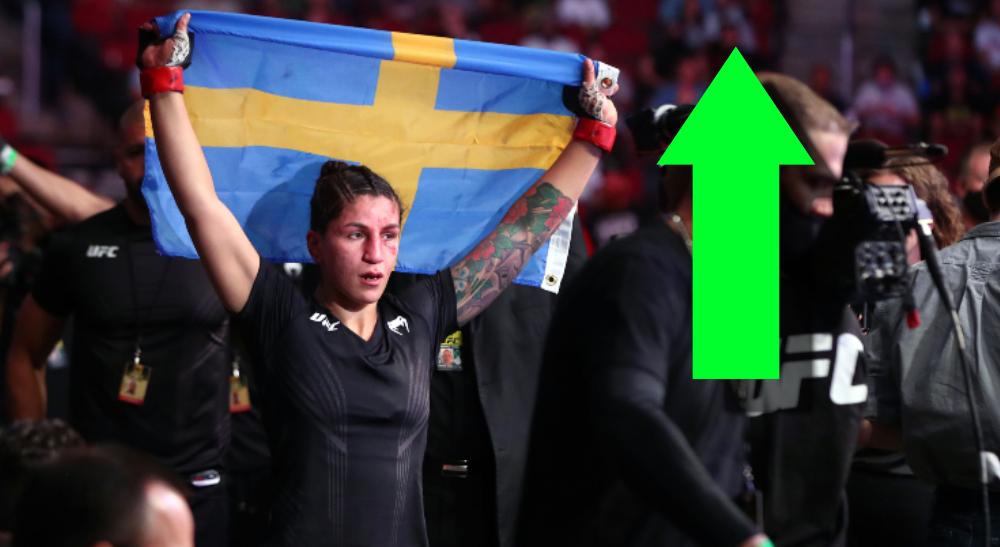 Pannie Kianzad UFC ranking MMA Sverige Frontkick Online